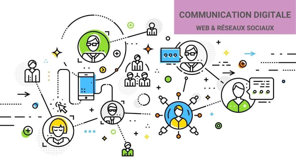schéma de la communication numérique à l'ère du digital