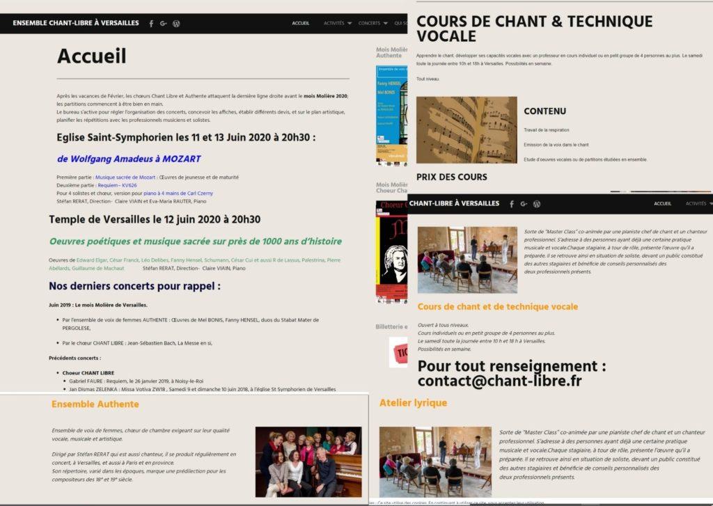 conception web, extrait du 1er site, mode d'emploi. illustration