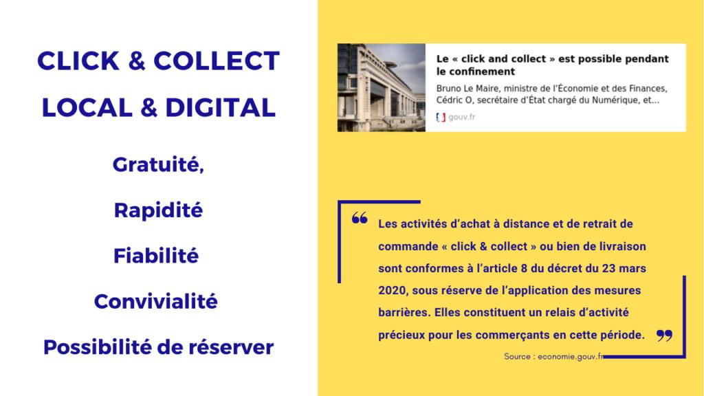 les 5 avantages du click and collect pour les consommateurs. Illustration