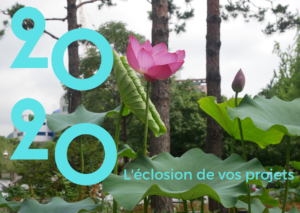 carte virtuelle pour mails et réseaux sociaux avec une fleur de lotus. Illustration