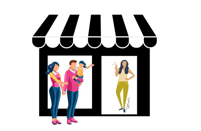 Digitaliser un commerce de proximité pour rester proche des clients. Illustration.