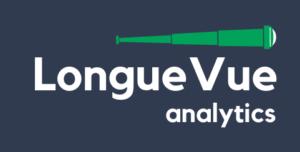 identité visuelle et logo d'un client d'akitsudigital, LonueVueAnalytics. Illustration